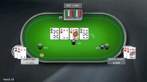Amazing fold by 0PIGGYBANK in WCOOP $10k Heads-Up