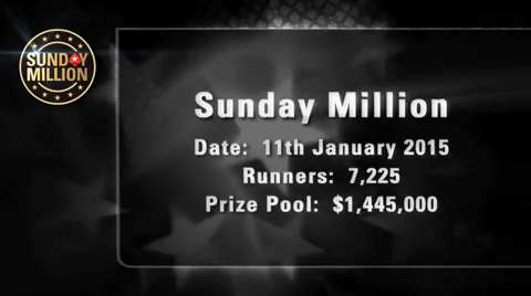 Sunday Million 11 January 2015