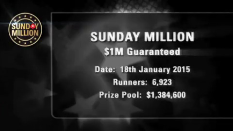 Sunday Million 18 January 2015