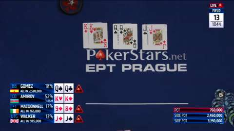 Spectacular Four-way All In at EPT Prague