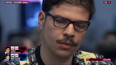 Mustapha Kanit's Spectacular Bluff in EPT Dublin High Roller