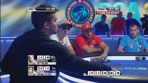 Hand of the Week - Michael 'The Grinder' Mizrachi vs Joel Micka