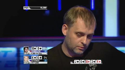 Litvinov Blows Up After Vamplew 'Slowroll' - EPT9 Monte Carlo
