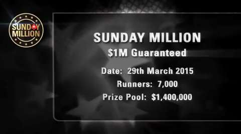 Sunday Million - March 29 2015