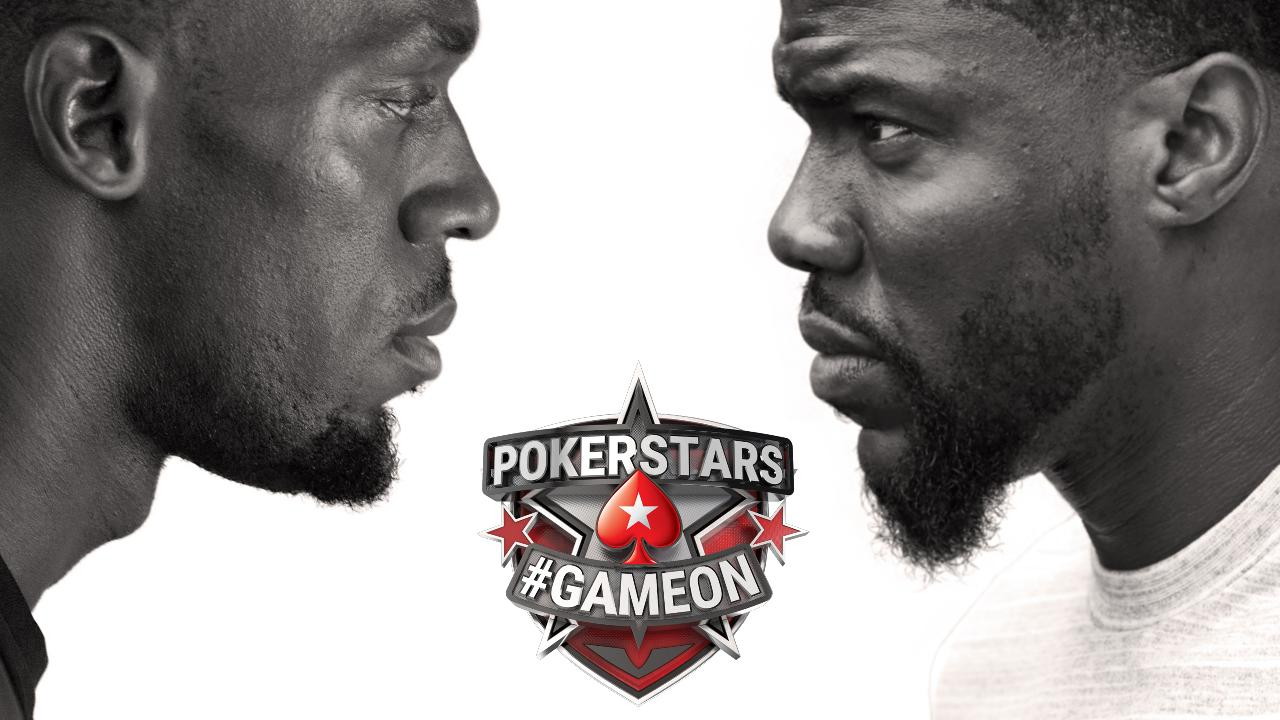 Usain Bolt and Kevin Hart in PokerStars #GameOn